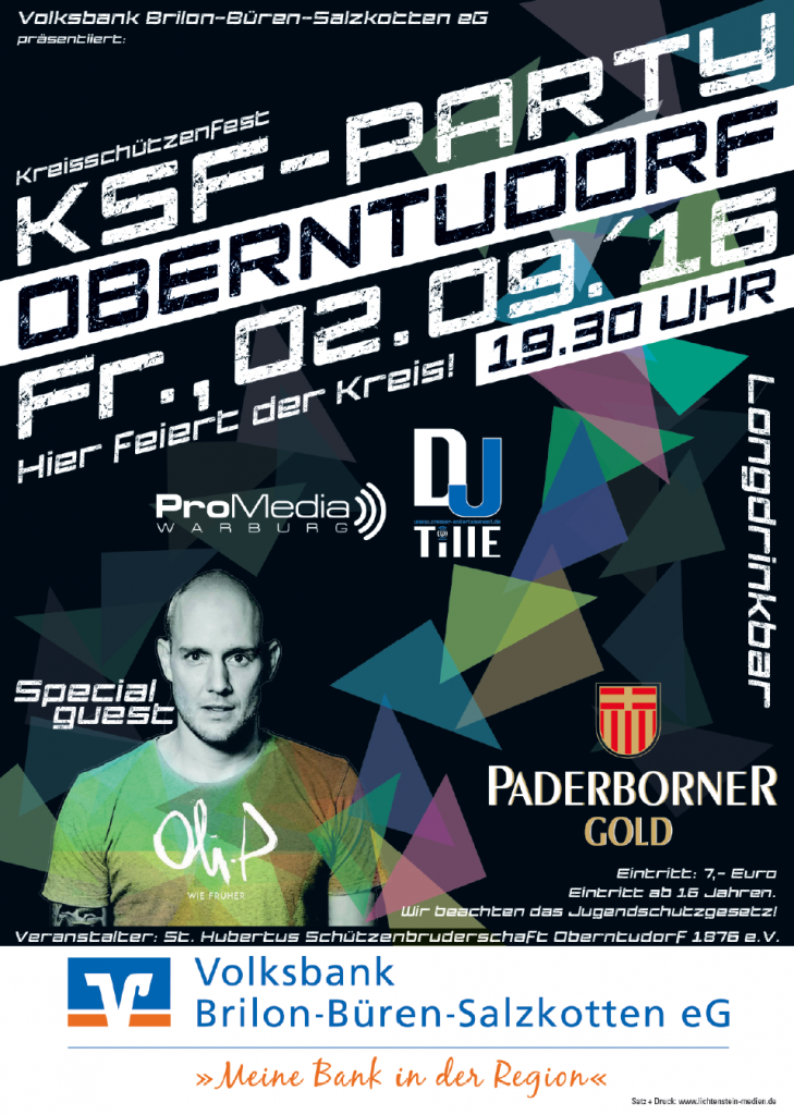 Plakat KSF16 Zeltparty